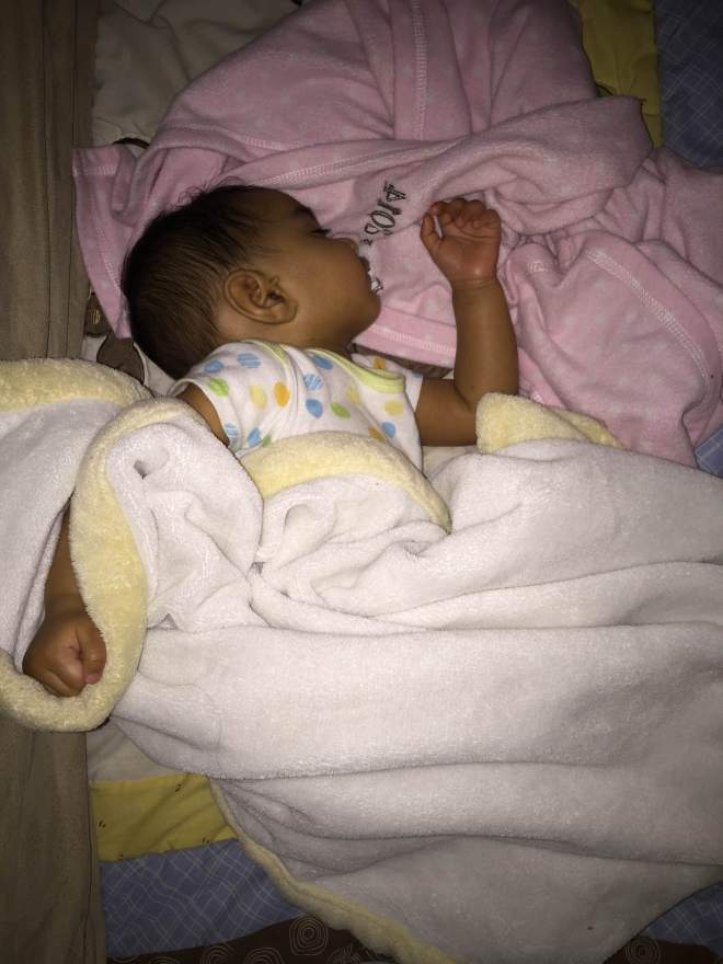 Hiten: A picture of my daughter from last night sleeping like the baby she is.