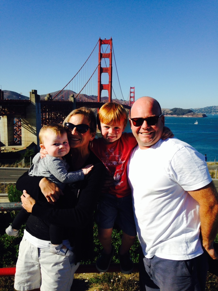 Carter: My family taking a walk across the GG bridge last Sunday afternoon.